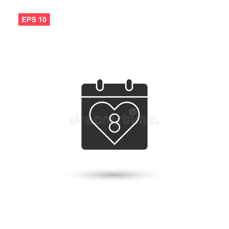 Calendar 8 march date icon vector isolated 4 vector illustration