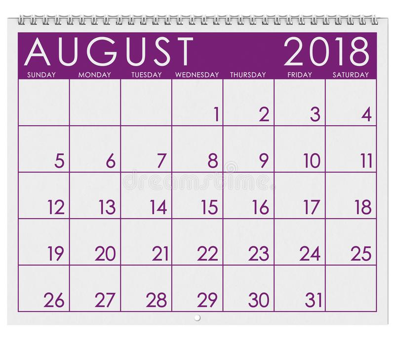 Calendar June To October : Calendar month of august stock illustration
