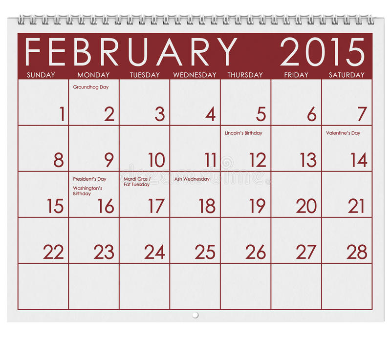 monthly holiday calendar 2015