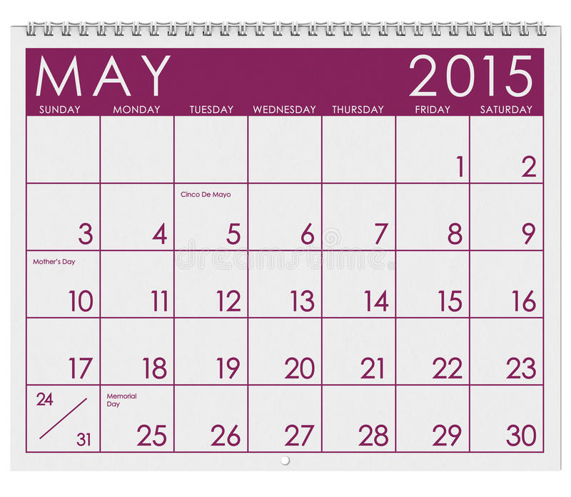 Calendar Month Illustration : Calendar month of may stock illustration image
