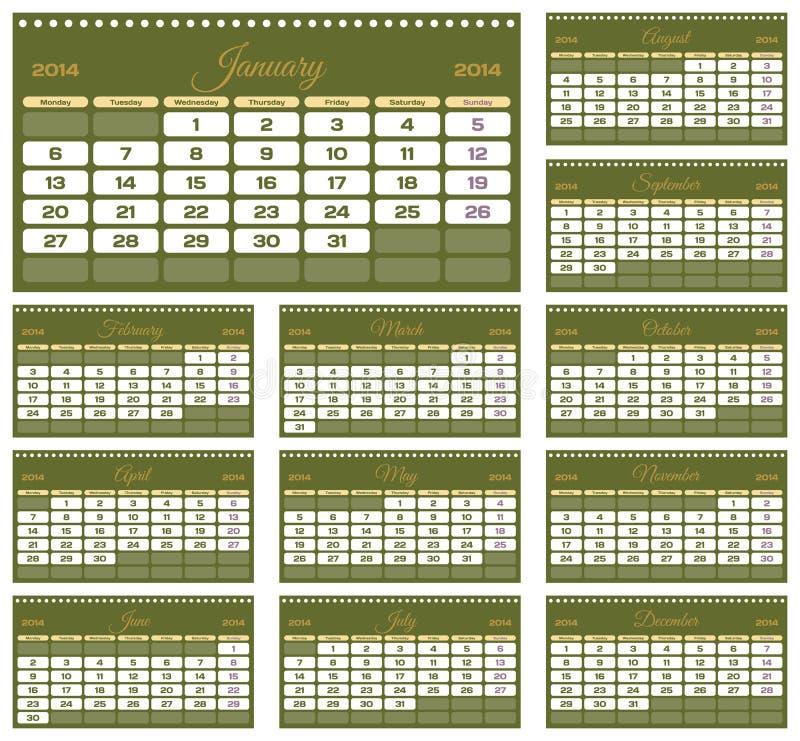 Download Calendar 2014 stock vector. Illustration of november - 34601976