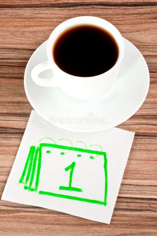Download Calendar on a napkin stock photo. Image of green, calendar - 25733690