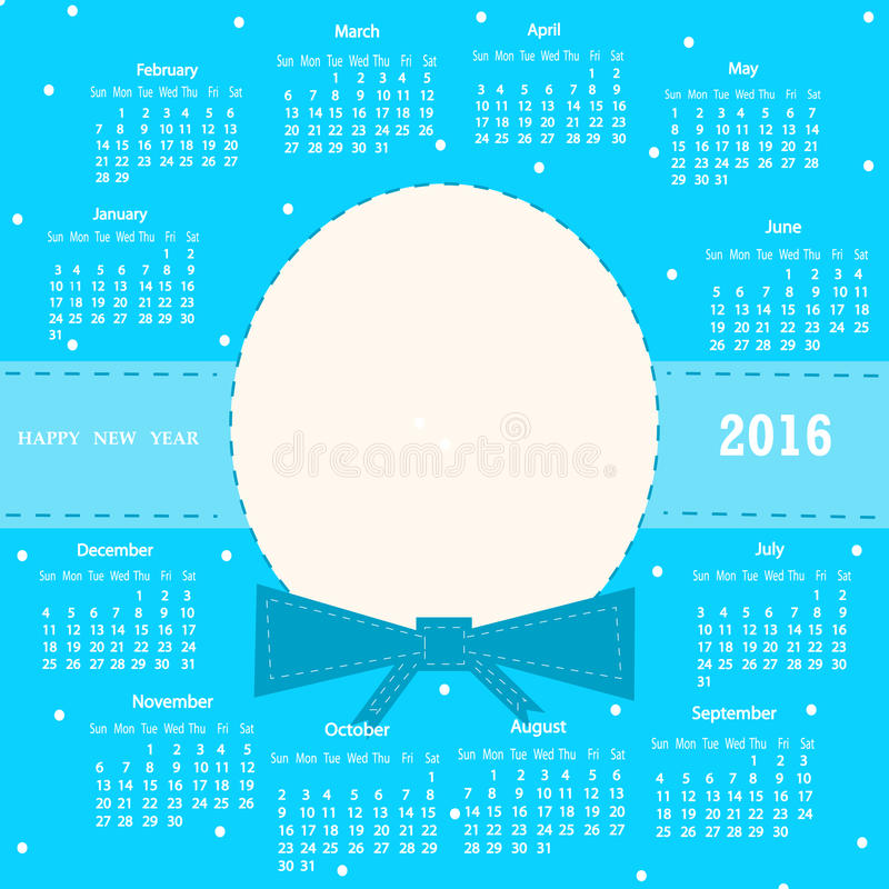 Calendar 2016. royalty free stock images