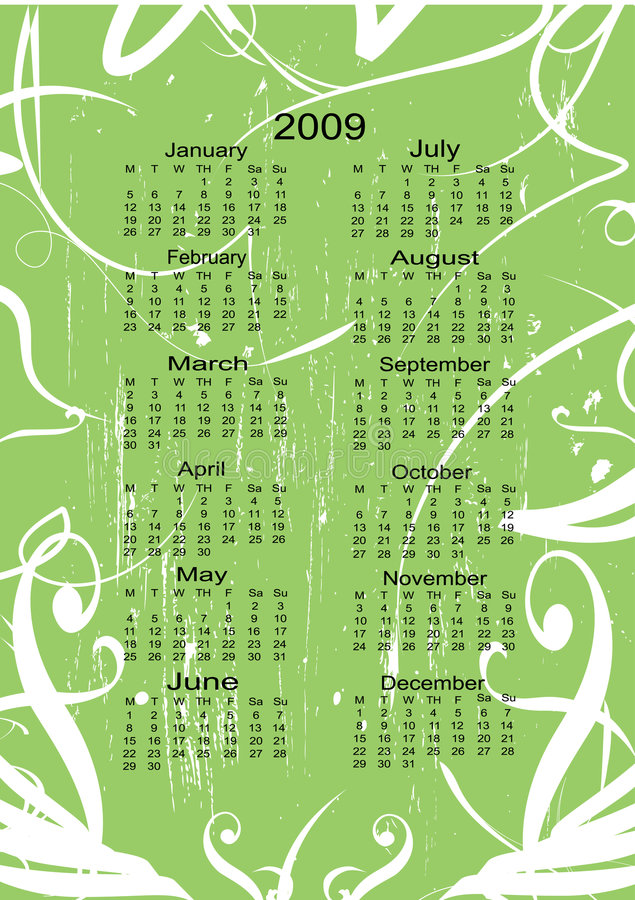 Download Calendar for the next Year stock vector. Illustration of future - 5875602
