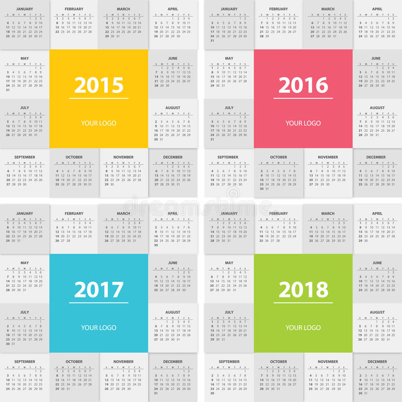 Next Year Calendar : Calendar for next year modern flat design stock vector