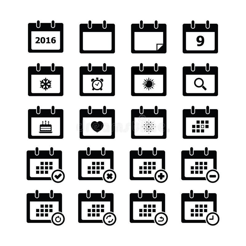 Calendar o ícone ilustração stock