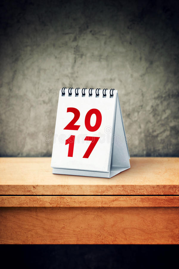 2017 calendar on office desk. Business plans and new year resolutions stock photography