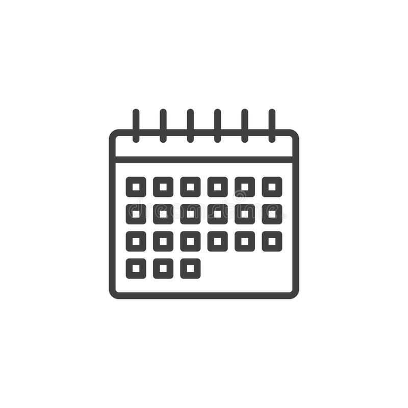 calendar outline icon stock vector illustration of page 109971814