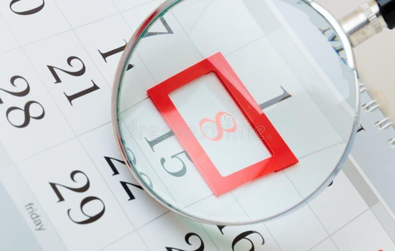 Calendar a página imagem de stock