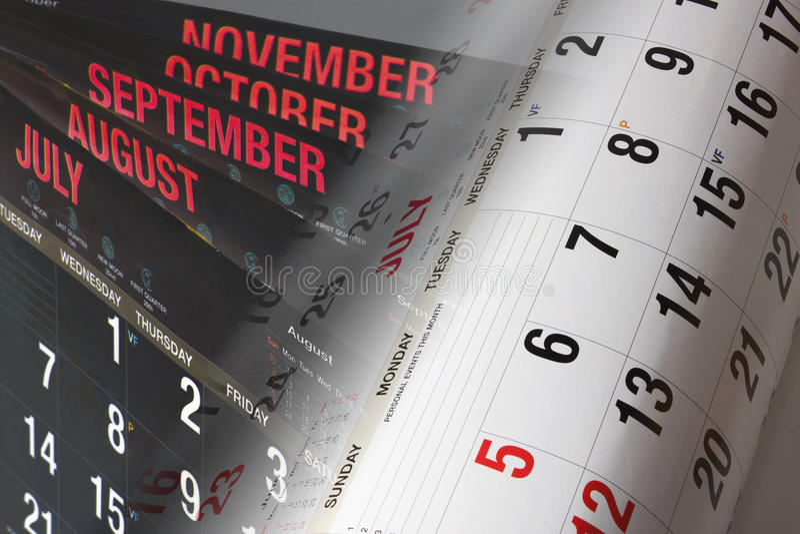 Calendar Pages. Photo Composite of Calendar Pages stock photos