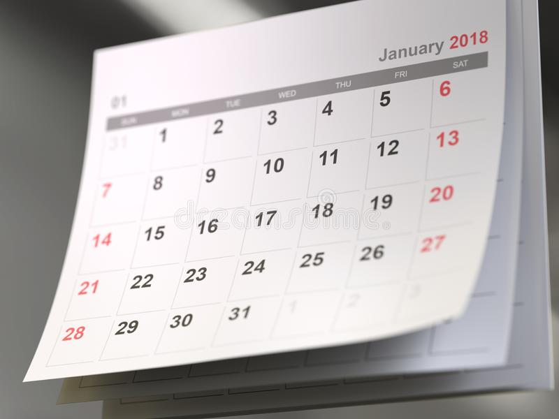 Calendar pages,time concept. Calendar pages,3d rendering,conceptual image..time concept royalty free stock images