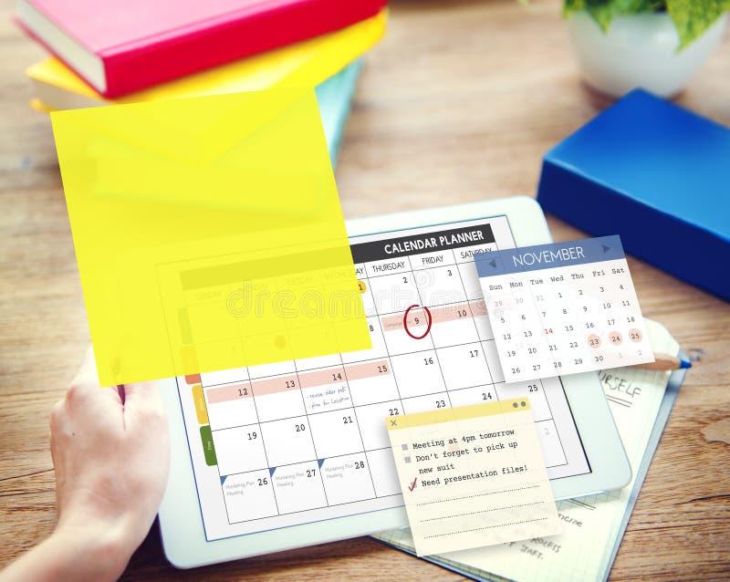 Calendar Planner Planning Organizer Note Concept stock image