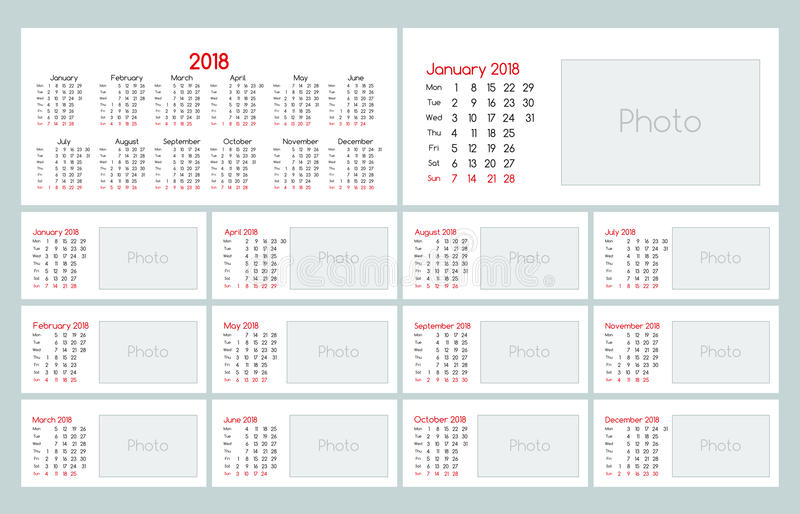 download calendar 2018 daily planner template stock vector illustration of calendar collection 97798406
