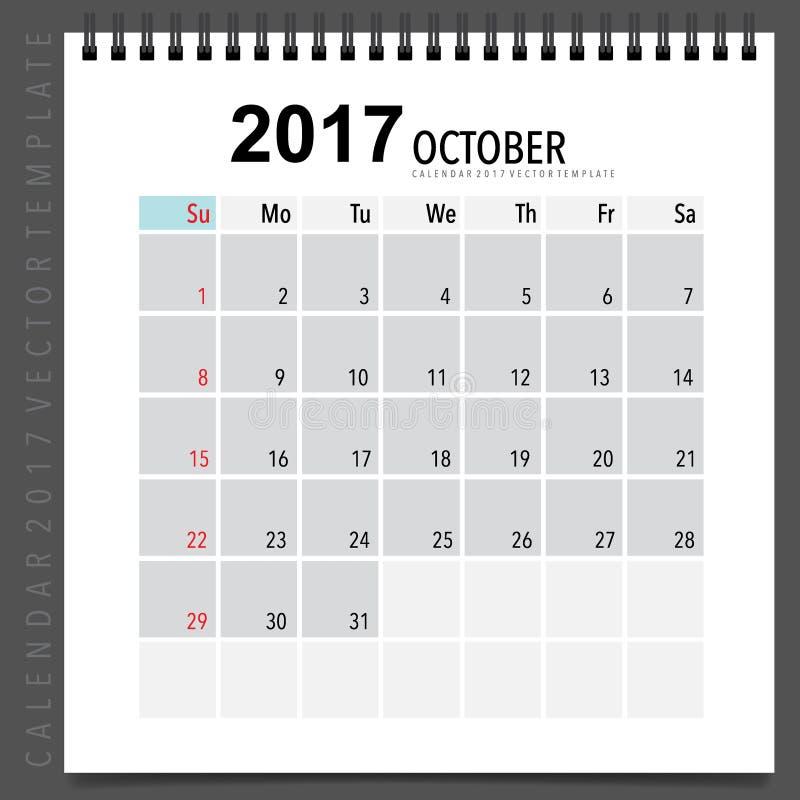 2017 Calendar Planner Vector Design Monthly Calendar Template F