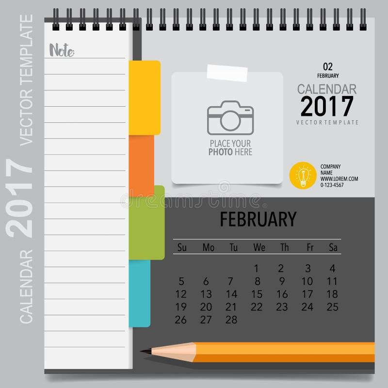 2017 Calendar Planner Vector Design Monthly Calendar Template Stock