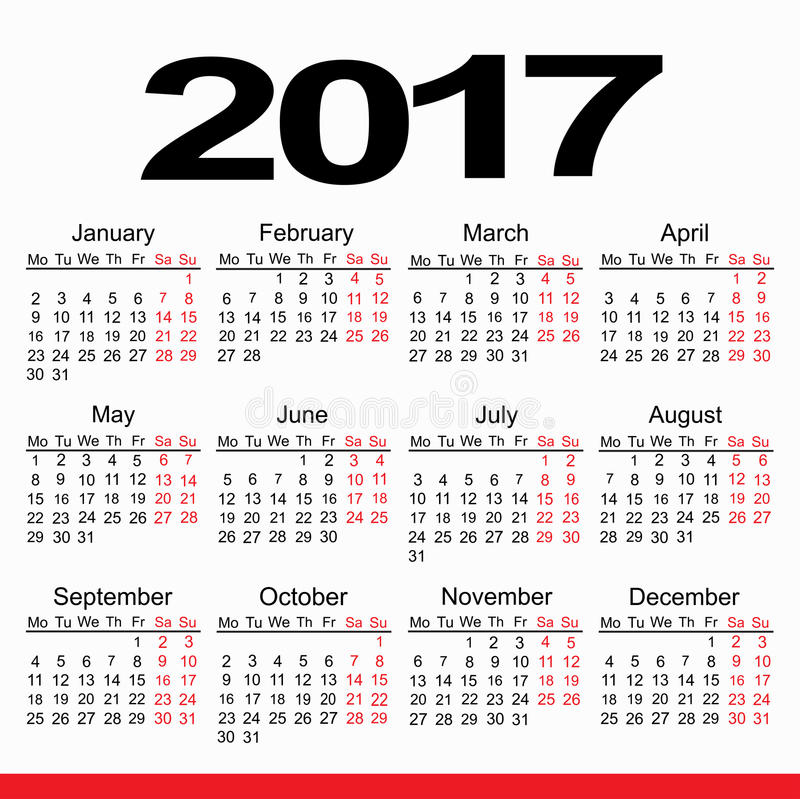 Calendar Planner 2017 royalty free stock photo