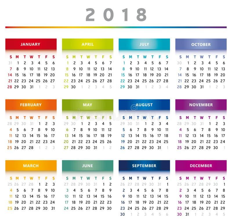 Calendario Rainbow.Months Rainbow Stock Illustrations 242 Months Rainbow
