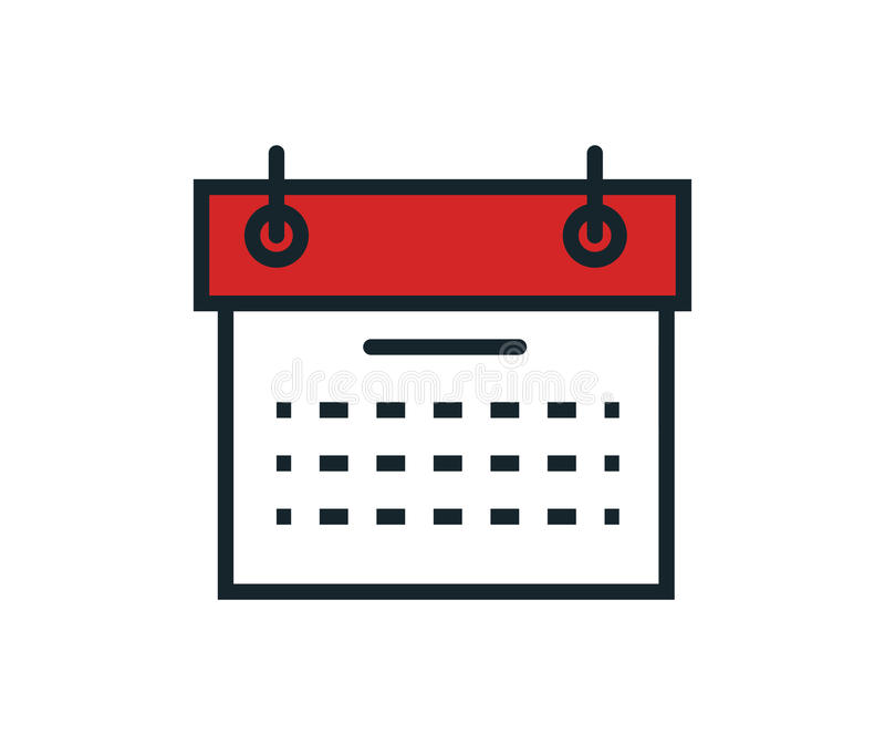 Calendar reminder isolated icon. Illustration design stock illustration