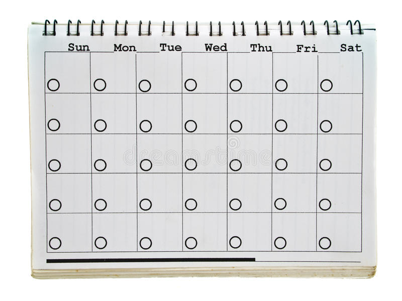 Calendar's page royalty free stock photos