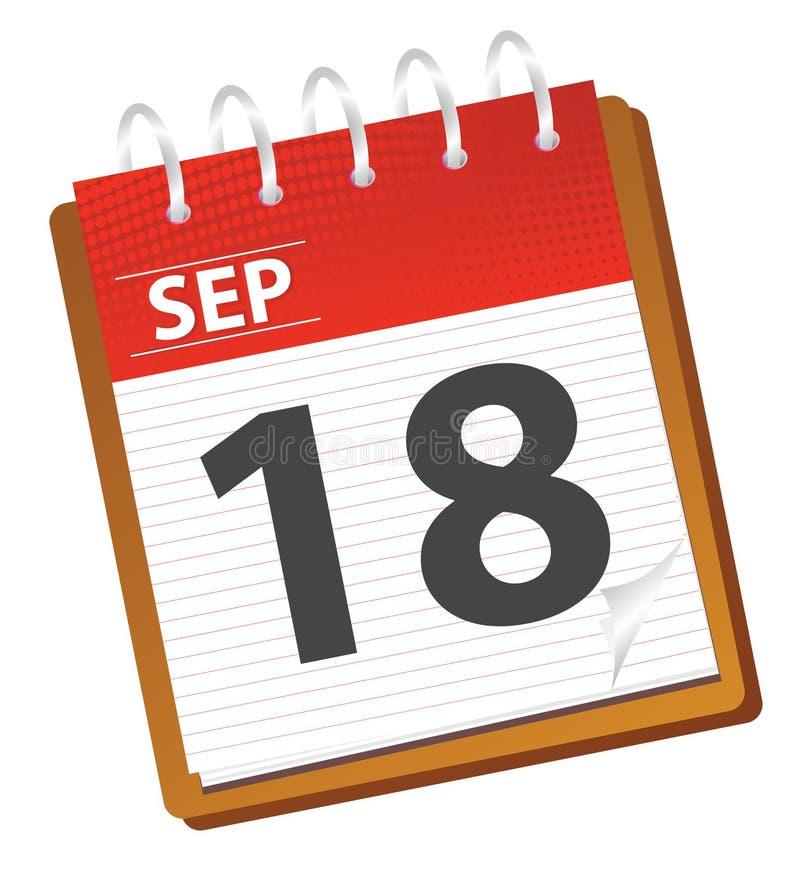 Calendar september stock illustration