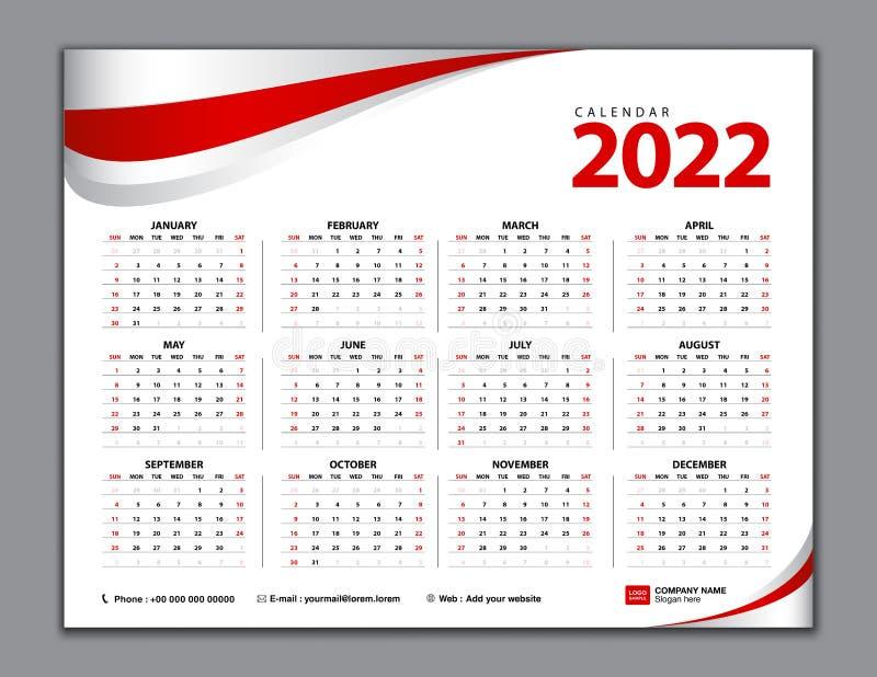 Calendrier Trial 2022 Calendar 2022, Simple Calendar, Desk, Week Starts From Sunday. Set