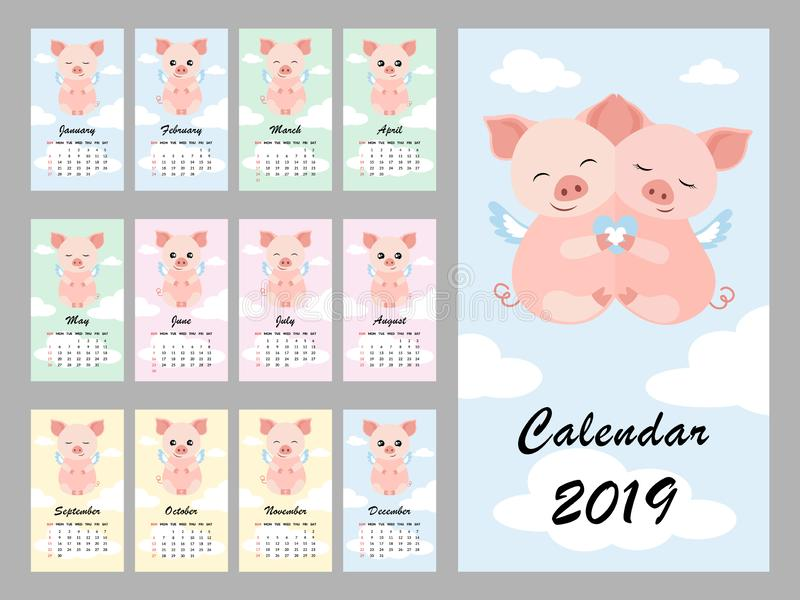 2018 09 19_calendar_sloth vektor illustrationer