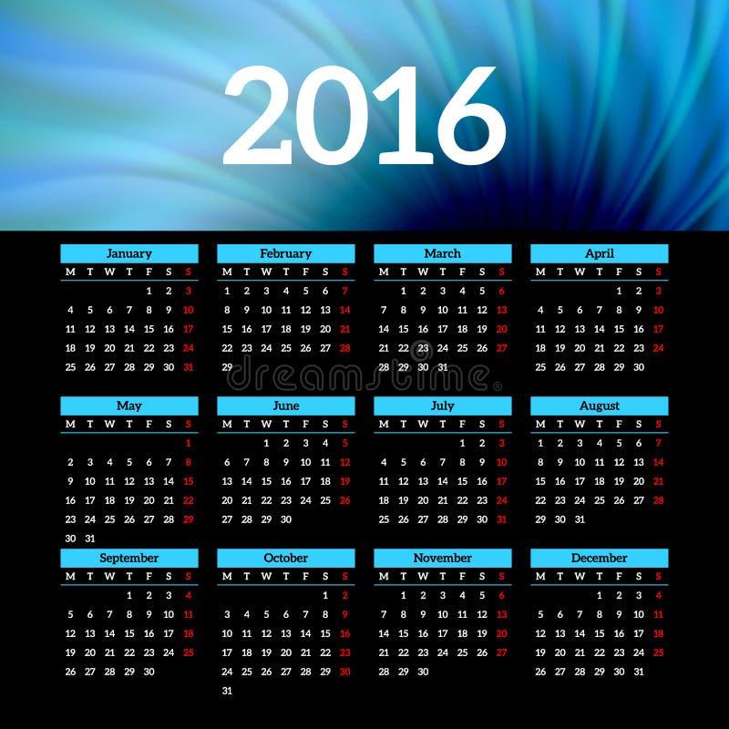Calendar Header Design : Calendar template design with header picture stock