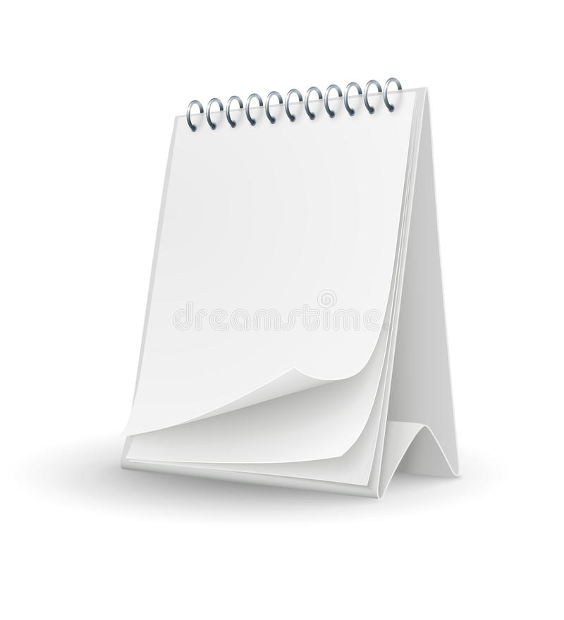 Free Calendar Template With Blank Pages Royalty Free Stock Photo - 28994415