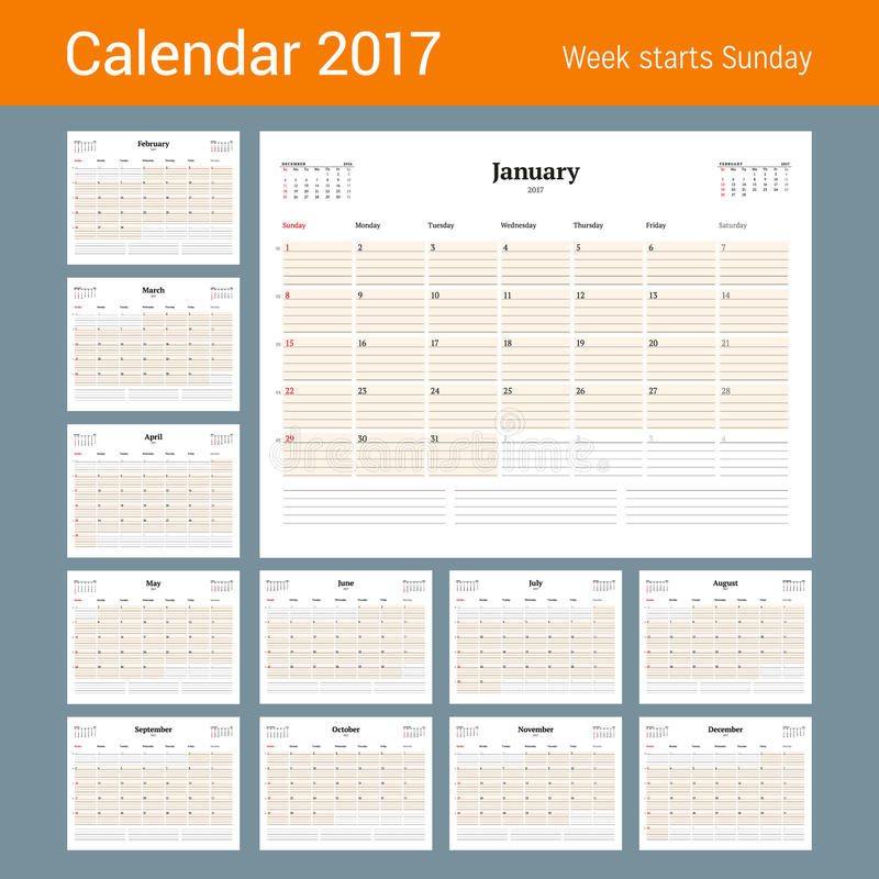 Calendar template for 2017 year set of 12 months business planner download calendar template for 2017 year set of 12 months business planner template accmission Gallery