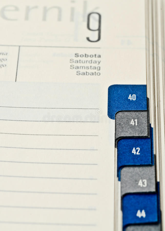 Download Calendar To Enter The Meeting Showing The Date Of Stock Photos - Image: 26216213