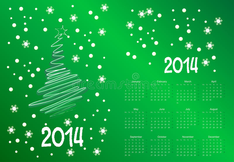 Download Calendar To A New 2014 Year Stock Vector - Image: 34369480
