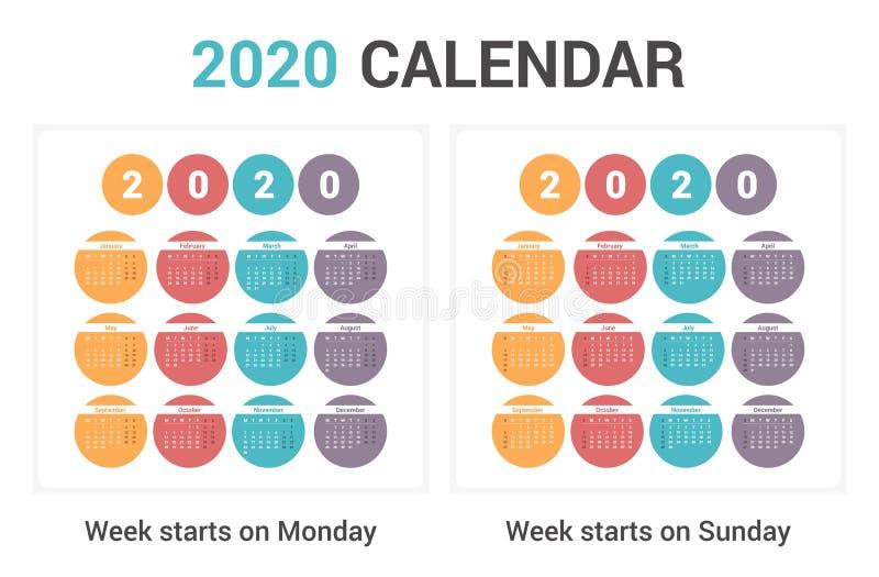 2020 Calendar stock image