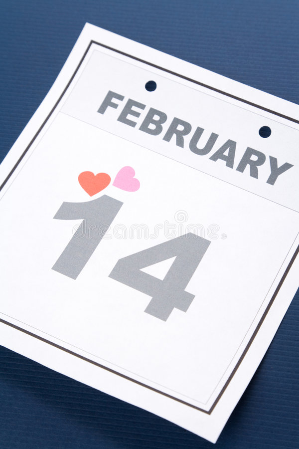 Download Calendar Valentine's Day stock photo. Image of date, heart - 7224396
