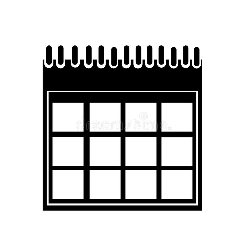 Blank Calendar Icon Vector : Calendar vector icon silhouette isolated white
