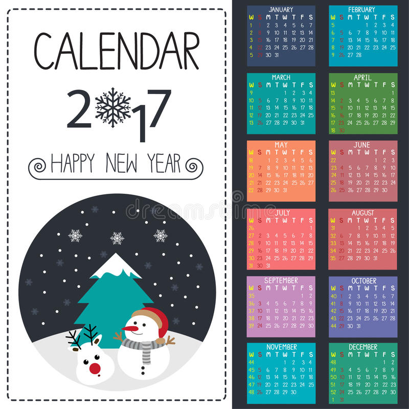 Calendar vector royalty free stock photography
