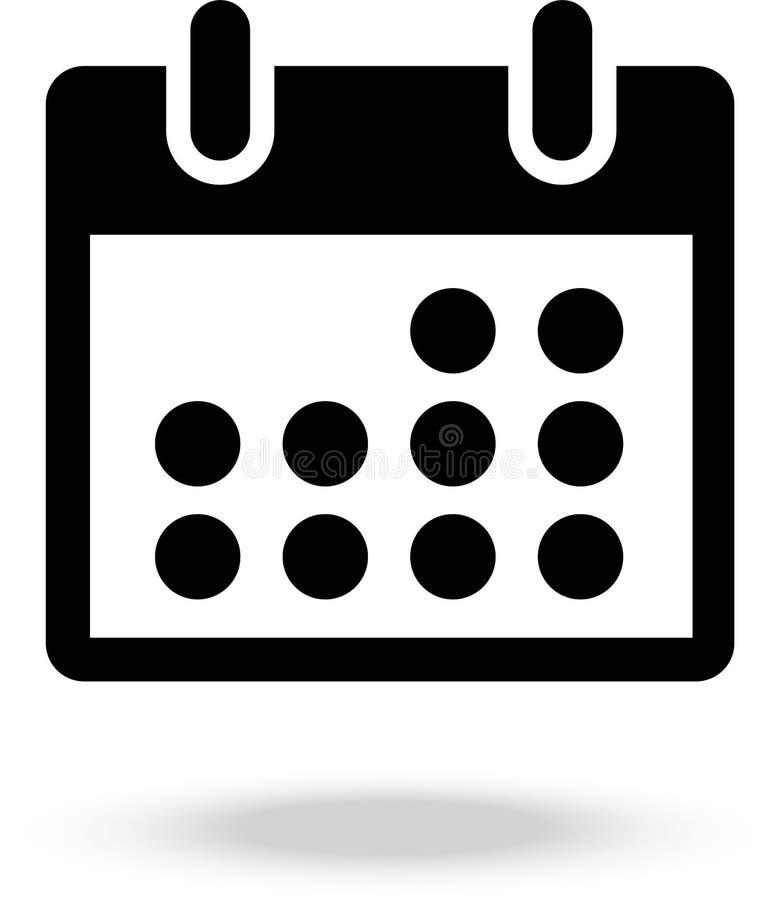 Calendar vector icon royalty free stock photos