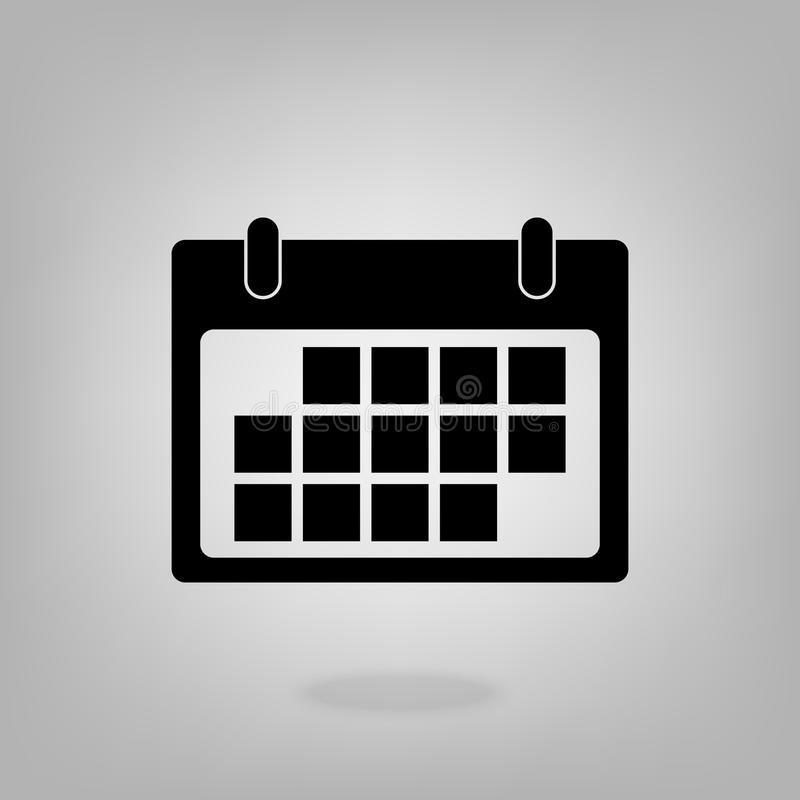 Calendar vector Icon in flat style isolated on grey background. For your web site design, logo, app, UI. Vector illustration.  vector illustration