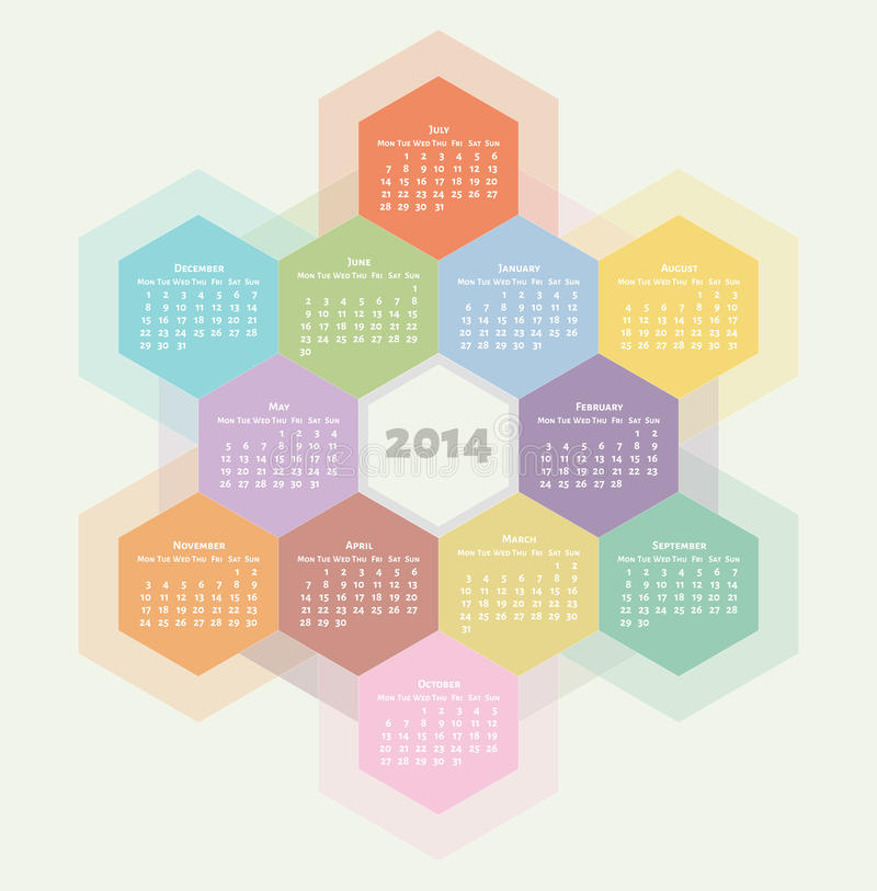 2014 calendar royalty free illustration