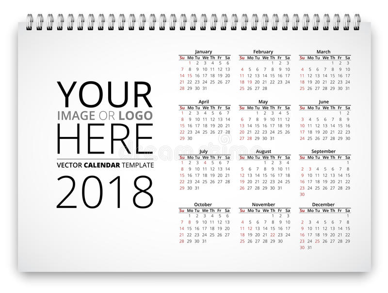 minimalist 2018 desk calendar with stand simple black and white ...