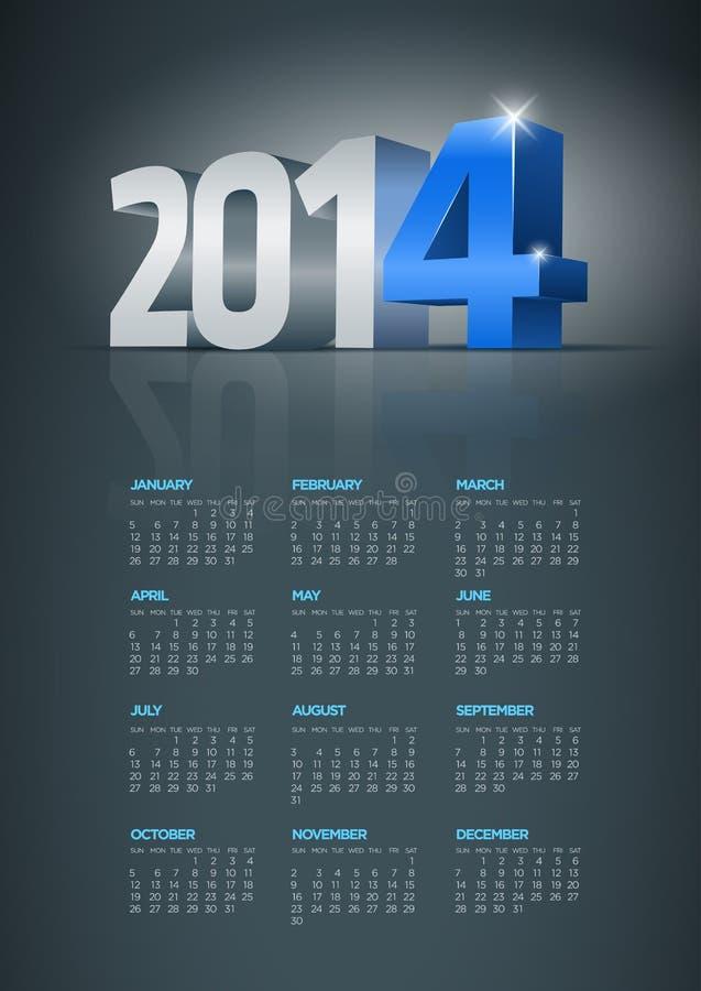 Download 2014 calendar stock vector. Illustration of color, decorative - 33146052