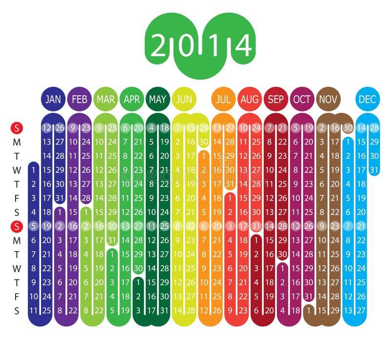 Calendar 2014 stock illustration