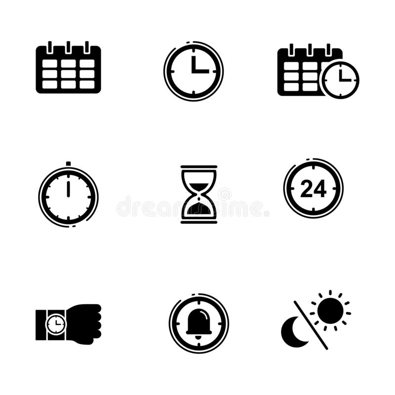 Calendar and watch vector illustration royalty free stock images