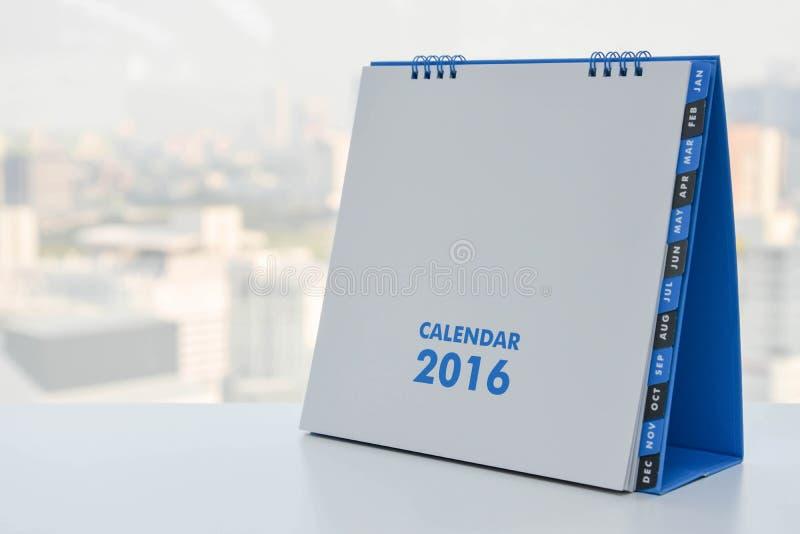 Calendar of 2016 stock photography