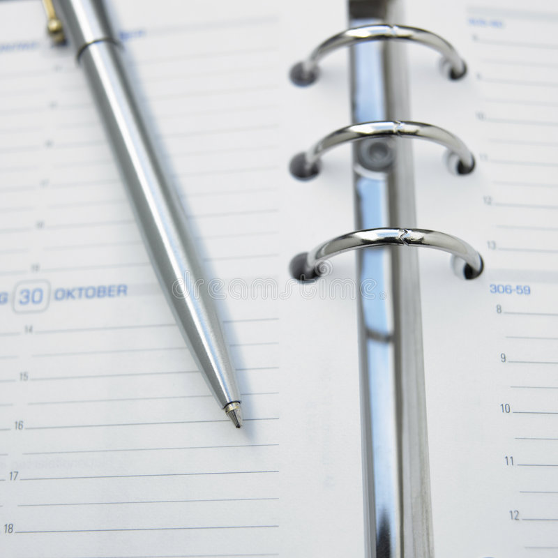 Free Calendar With Pen Stock Image - 3748861