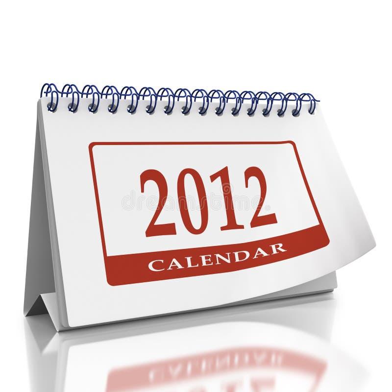 Download Calendar Year 2012 Desktop Organizer Stock Illustration - Illustration: 22919580