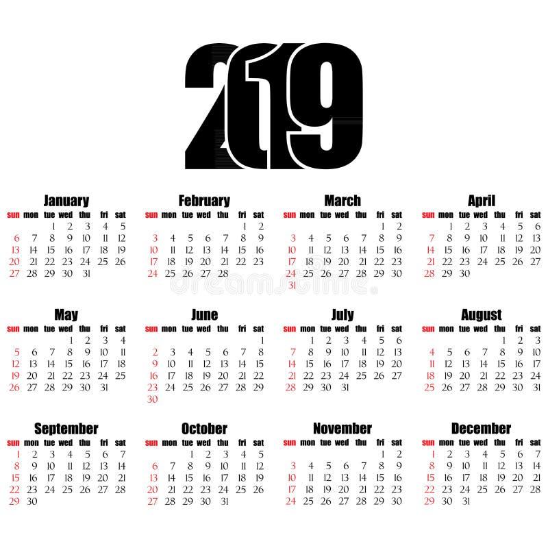 Calendar Number Design : Calendar year flat design simple style stock vector