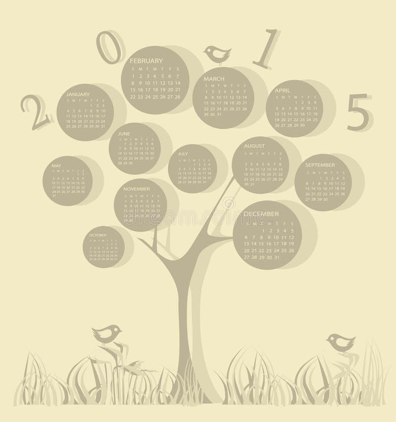 Calendar for 2015 year vector illustration