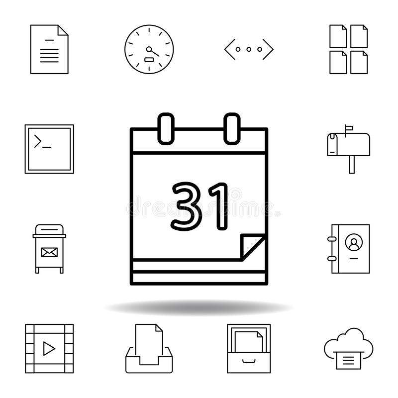 calendar year schedule outline icon. Detailed set of unigrid multimedia illustrations icons. Can be used for web, logo, mobile app vector illustration