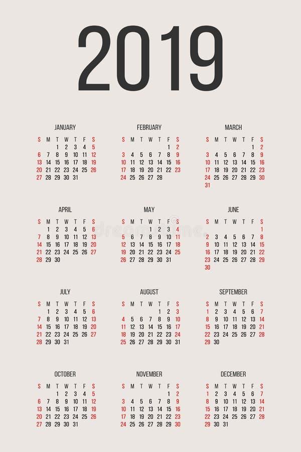 2018 printable calendar yearly