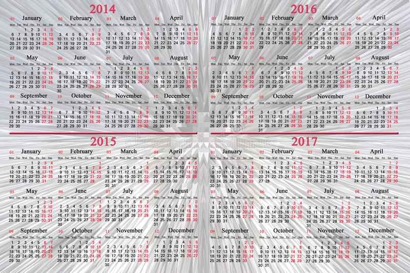 calender years